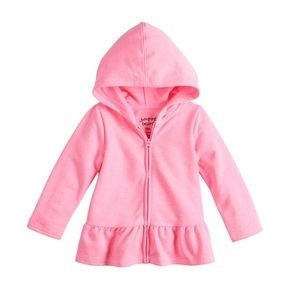 Jumping beans pink zip front hoodie